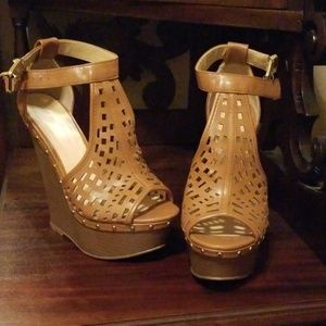 Just Fab Congac Wedges